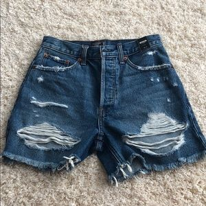 NWT high rise denim short